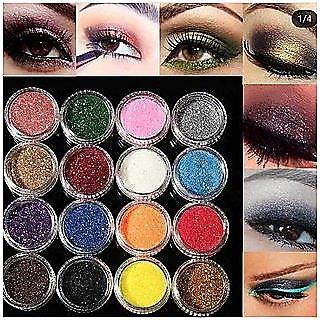 Multi Color Glitter Eye Nail Pigment HOT NEW 12 PCS - FOR GIRLS