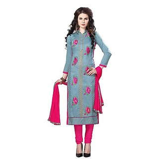 78a22f080e Buy WOMEN'S COTTON EMBROIDERED PARTY WEAR SALWAR SUIT Online ...
