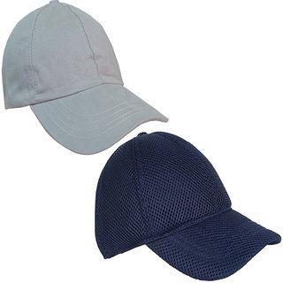 756f099e716 Buy Sunshopping men s grey and navy blue baseball caps (combo ...