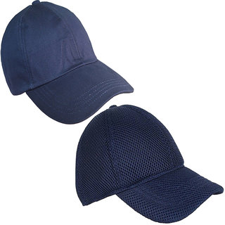b9d3ee5e866 Buy Sunshopping men s navy blue baseball caps (combo) Online   ₹589 ...