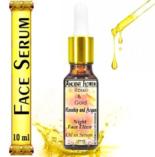 Ancient Flower Rose and Gold - Rosehip and Argan Night Face Elixir - Oil in Serum (10 ml)