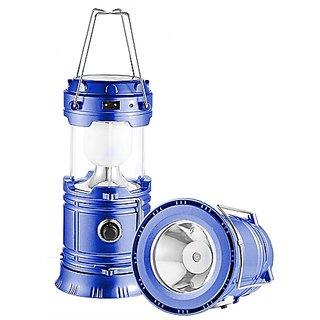 Shopper52 6 Led Metal Polished 100 mAh Battery Rechargeable Emergency Portable Light Lamp Tent Lantern Solar Charging