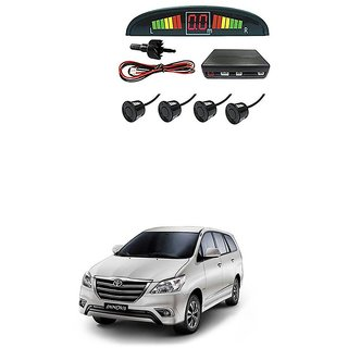 KunjZone Car Reverse Parking Sensor Black With LED Display Parking Sensor For Tata Innova