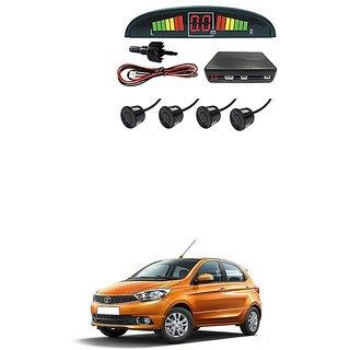KunjZone Car Reverse Parking Sensor Black With LED Display Parking Sensor For Tata Tiago