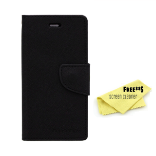 Mercury Diary Goospery Card Wallet Flip Cover Back Case for Sony Xperia E3 - Black