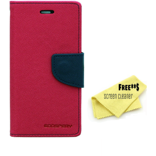 Mercury Diary Goospery Card Wallet Flip Cover Back Case for Sony Xperia E3 - Pink Blue