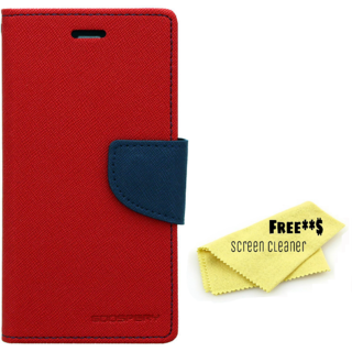 cheap for discount 440a5 e31ea Mercury Diary Goospery Card Wallet Flip Cover Back Case for Lenovo A7700 -  Red Blue