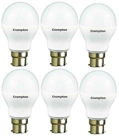 Crompton 7 Watt LED Bulb (Pack of 6, Cool Day Light)