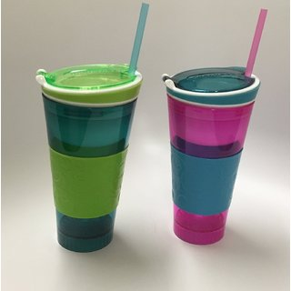 PAGALY 2 in 1 Snack Drink Snackeez Travel Cup in One Container