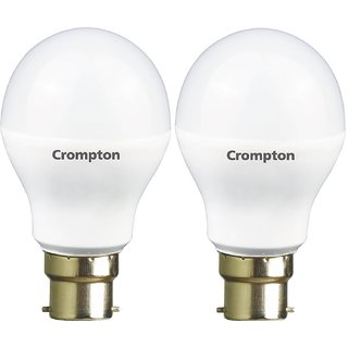 Crompton 12-Watt B22 Base LED Bulb (Pack of 2, Cool Day Light)