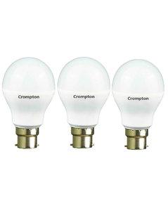 Crompton  9-Watt B22 Base LED Bulb (Pack of 3, Cool Day Light)