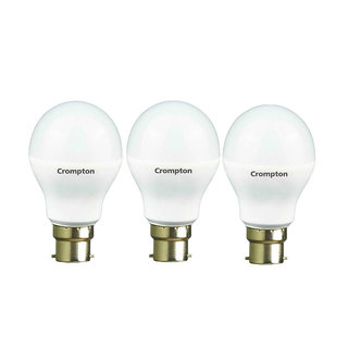 Crompton 9-Watt B22 Base LED Bulb (Pack of 3 Cool Day Light)