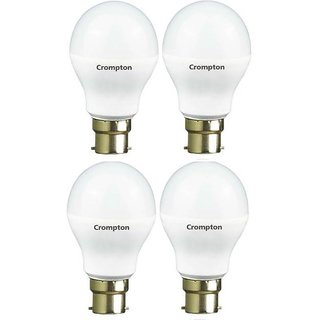 Crompton 9-Watt B22 Base LED Bulb (Pack of 4 Cool Day Light)