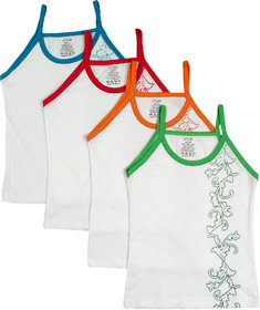 UCARE Pure Cotton Printed Slips for Girls  Kids (2007-Pack of 4)