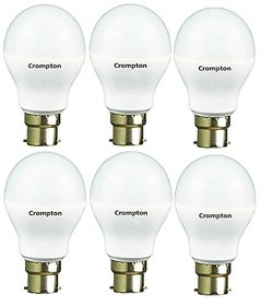 Crompton 9-Watt B22 Base LED Bulb (Pack of 6, Cool Day Light)