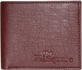 Thefitsquare Trendy Men'S Premium Quality Chocolate Colour Artificial Leather Wallet