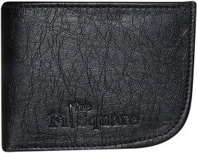 Thefitsquare Round Black Men'S Premium Quality Artificial Leather Wallet