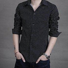 Royal Fashion Dot Black Printed Shirt For Men