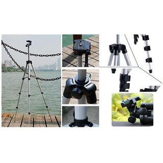 durReey 3110 3-Way Head Rotation Adjustable Aluminum 35cm To 102cm Extendable Camera-Tripod With Bracket