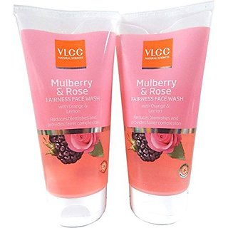 VLCC Mulberry  Rose Fairness Face Wash 150ml (Pack of 2)