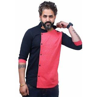 c2110d348 EG Solid Men's Mandarin (Collar T Shirt) Multicolor T-Shirt Designer Shirt  T Shirt