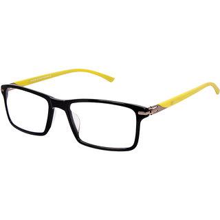 David Blake Black Rectangular Full Rim EyeGlass