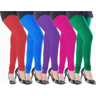 Eazy Trendz Durable Bio Washed Lycra Leggings Pack of 5