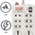 Hilex MINI STRIP 8 Plug Point  Extension Strip/Bord ,Fuse / Indicator / Spark Suppressor Slim Body With 4 Yard Long Wire