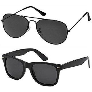 560303ea70e Buy Debonair Black Aviator Sunglass + Free Black Wayfarer (UV Protection)  Unisex Sunglass Online - Get 82% Off