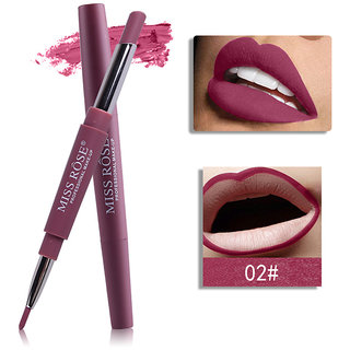 MISS ROSE 2 IN 1 Waterproof Sexy Matte Lip Liner And Lipstick