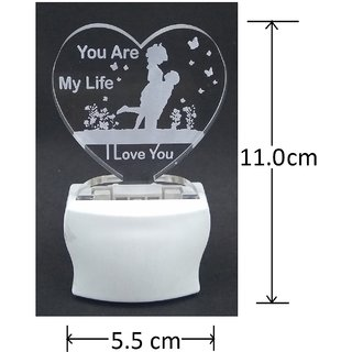 Gkart You Are My Life I Love You Heart Shape LED Night Lamp