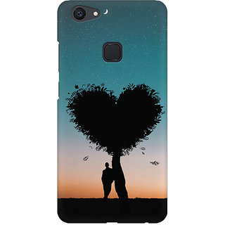 Back Cover for Vivo V7  (Multicolor)