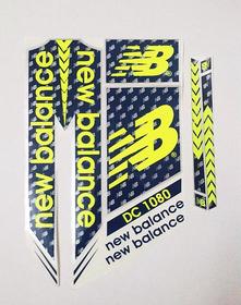 NB DC 1080 Cricket Bat Sticker Blue