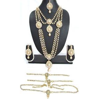White Pearl Kundan Bridal Necklace Set