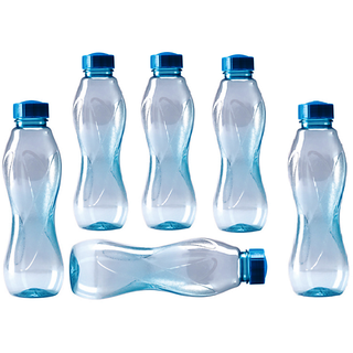 Cello water bottles 1000ml Pack Of 6 (Assorted Colors)