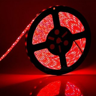 SILVOSWAN LED Strip Light 5 Meter RED Color Non Waterproof for Diwali, Decoration (5050)