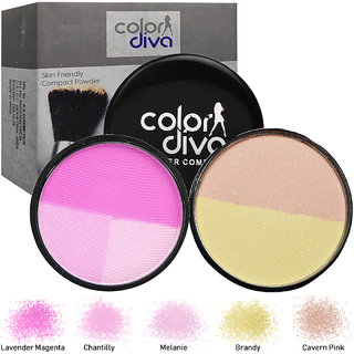 Color Diva 5in1 Compact Powder With Blush 35gm