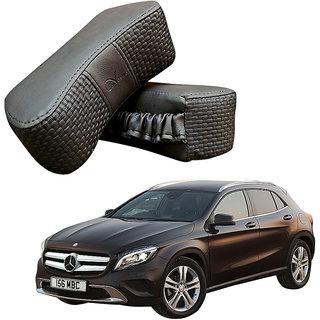 Auto Addict CV Designer Gray Neck Leatherite Car Pillow Cushion 2 Pcs for Mercedes Benz GLA-Class