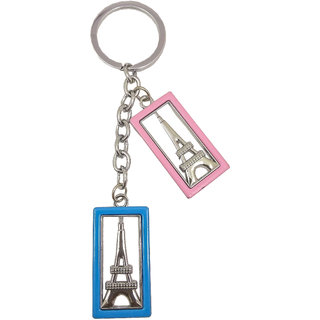 Metal Eiffel Tower Key chain For Bike Car Home Office Keys