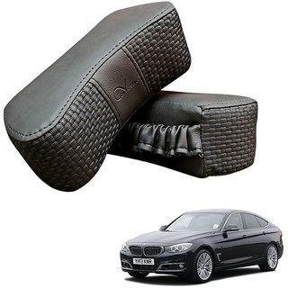 Auto Addict CV Designer Gray Neck Leatherite Car Pillow Cushion 2 Pcs for BMW GT
