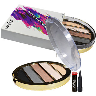 Mars Imported Matte  Sheer 5-Colours Eyeshadow EP09-02 With Free LaPerla Kajal Worth Rs.125/