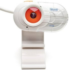 Zonet USB 2.0 Webcam ZVC7500 1.3MP w/Built-in Microphone  LCD Clip-On (White)