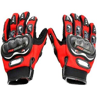 Pro Biker Riding Gloves - Red Colour