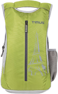 Timus Green Polyester Casual Bag With 3 Years Manufacturer Warranty