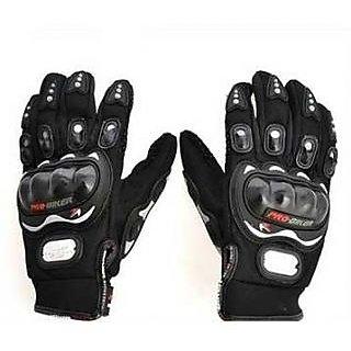 Black Winter Pro Biker Gloves