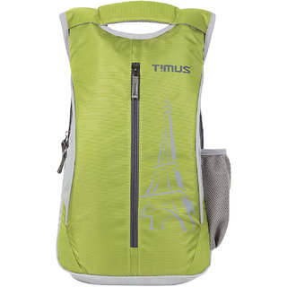 Timus Green Polyester Casual Bag With 1 Years Manufacturer Warranty