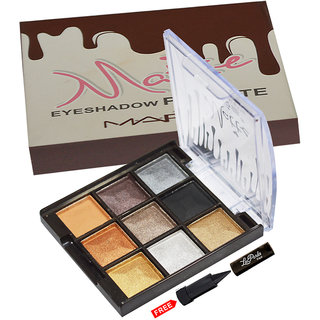 Mars Imported Matte Eye shadow Palette 87039-02 With Free LaPerla Kajal Worth Rs.125/