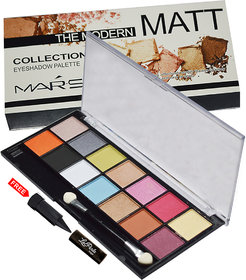 Mars Imported Matte The Modern Collection Eye shadow Palette 87044-01 With Free LaPerla Kajal Worth Rs. 125/