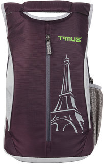 Timus Class 14 Litres College Backpack(Purple) Bag
