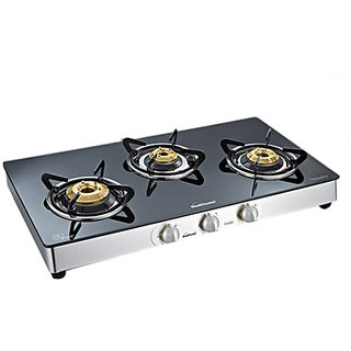 Sunflame Classic 3 Burner Gas Stove SS